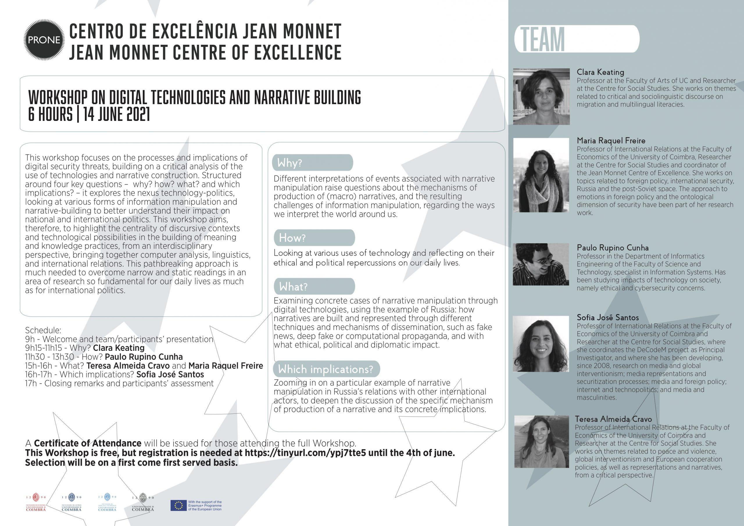 Workshop sobre Tecnologias Digitais e Construção de Narrativas
