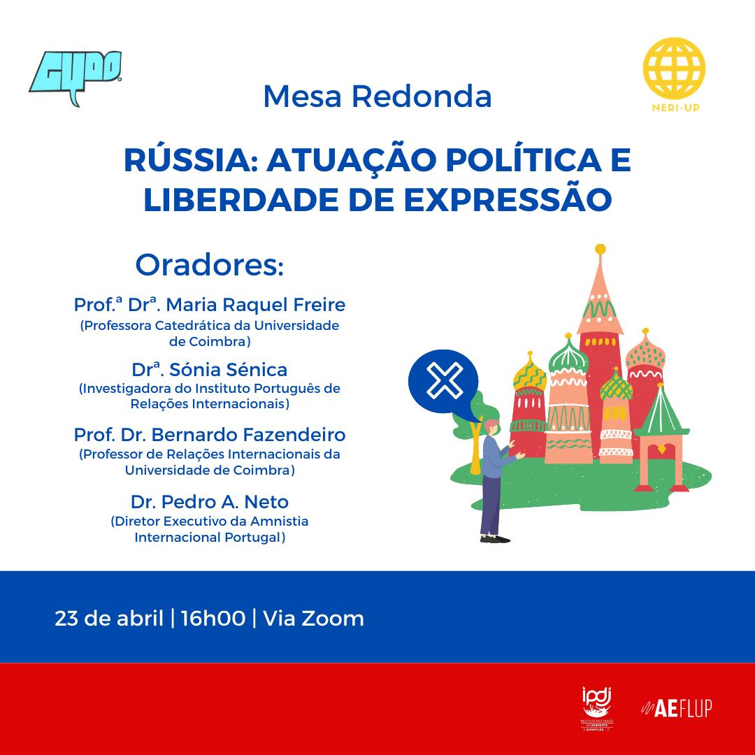 """Mesa redonda """"Rússia: atuação política e liberdade de expressão"""""""