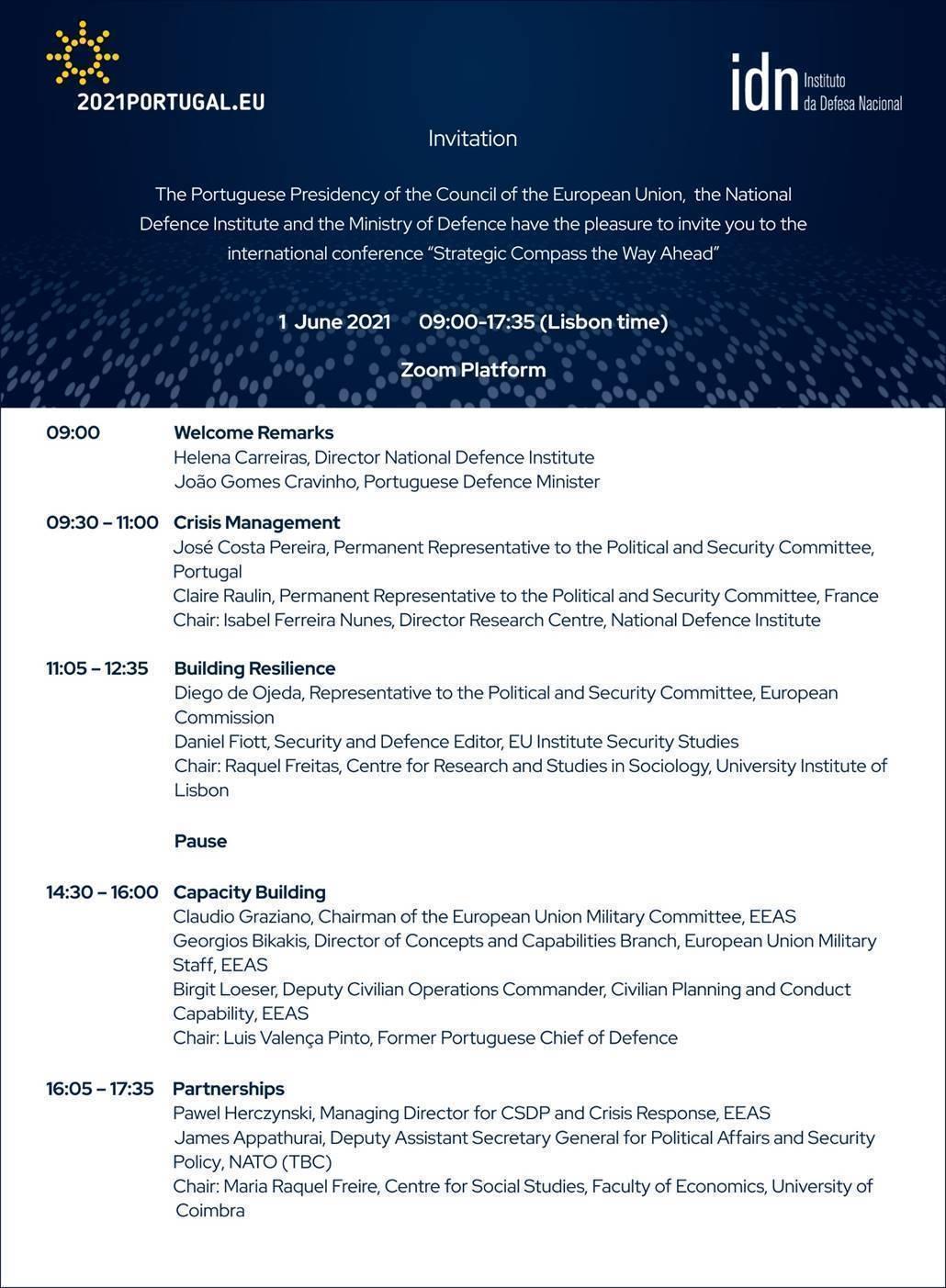 """Conferência Internacional """"A bússola estratégica, caminho a seguir"""""""